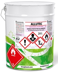 Allutec, protective and decorative aluminum based paint