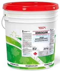 Idrogum, elastomeric water based waterproof decorative coating